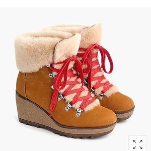 Jcrew Nordic wedge boots